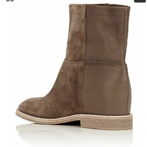 VINCE Grayson Suede Leather Concealed Wedge Bootie